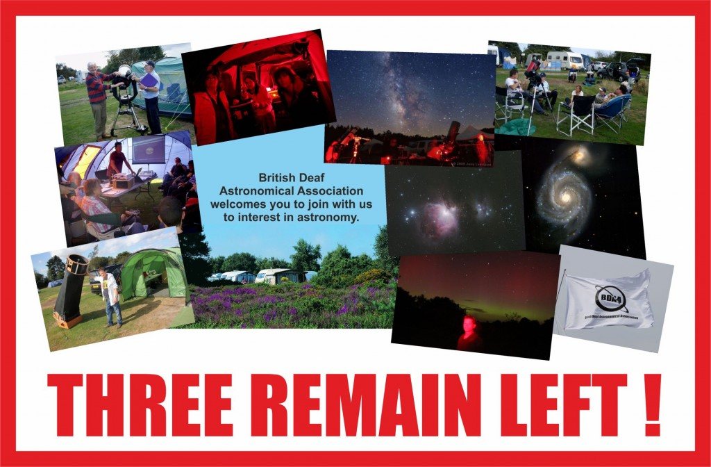 Three remain left - 150726