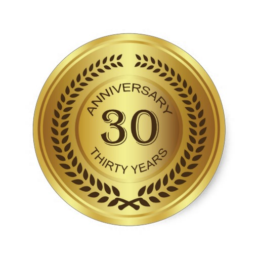 golden_30th_anniversary_with_laurel_wreath_sticker-rc7cd4968a86043809fc012269e4b3c5c_v9waf_8byvr_512
